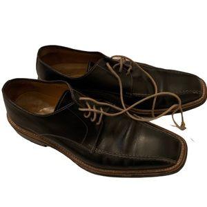 Antonio Maurizi black leather oxford shoes size 42